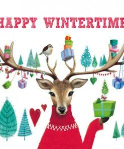 Servetel - Happy Wintertime - 33x33 cm