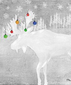 ervetel - Woodland Deer silver - 33x33 cm