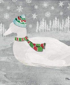 Servetel - Woodland Duck silver - 33x33 cm