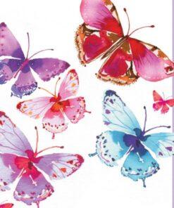 Servetel - Aquarell Butterflies - 33x33 cm