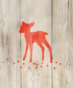 Servetel - winter fawn red - 33x33 cm