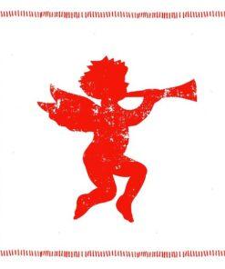 Servetel - Angel Fashion red - 33x33 cm