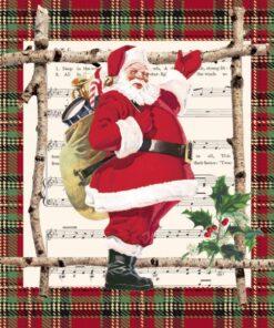 Servetel - Chalet Santa Claus - 33x33 cm
