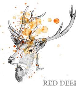 Servetel decoupage - Autumn Deer - 33x33 cm