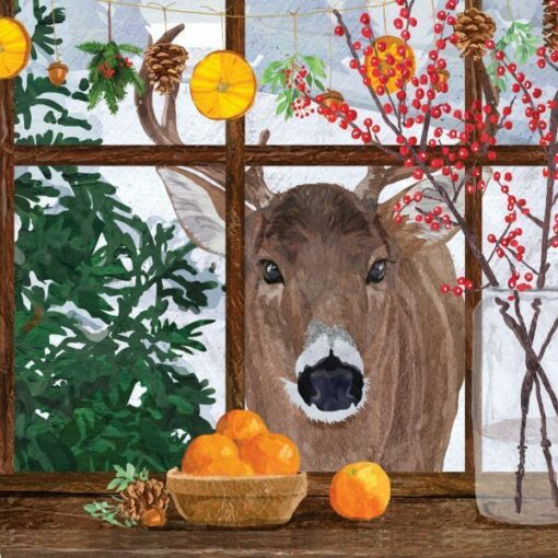 Servetel - Hearth Time Deer - 33x33 cm