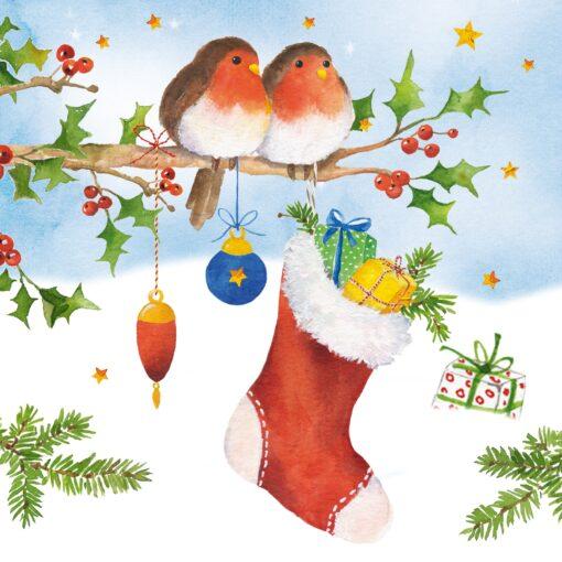 Servetel - Stocking & Birds - 33x33 cm