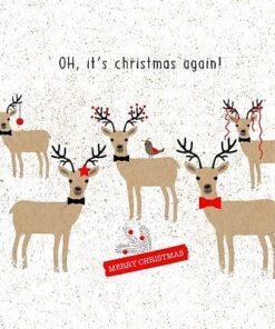 Servetel - Oh, christmas again! - 33x33 cm