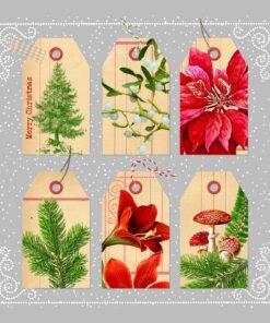 Servetel - Christmas Tags - 33x33 cm