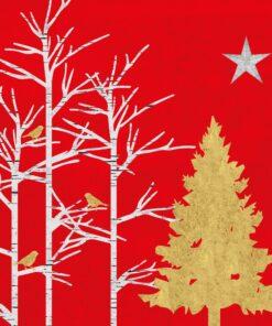 Servetel decorativ - Mystic Tree - 33x33 cm
