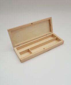 Cutie penar din lemn - compartimentat.