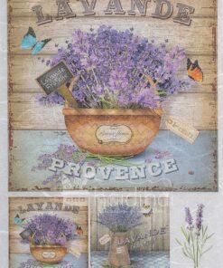 Hârtie de orez – Lavande Provence - PR3500