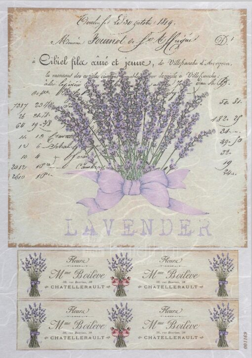 Hârtie de orez – fleur de Lavander - PR1169