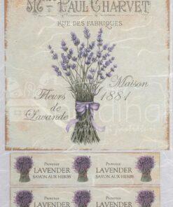 Hârtie de orez - Fleur de Lavande - A5