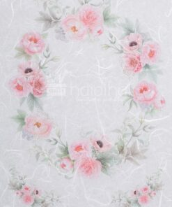 Hârtie de orez - circle flower - decoupage
