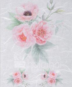 Hârtie de orez - flower pink - decoupage - PR2321
