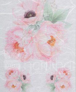 Hârtie de orez - flower pink - decoupage - PR2322