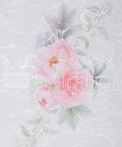 Hârtie de orez - flower pink - decoupage - PR2323