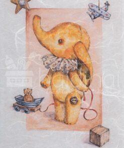 Hârtie de orez - happy elephant - A5