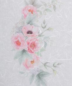 Hârtie de orez - pink roses flower - PR2319