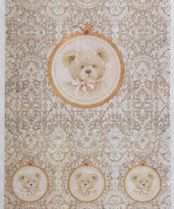 Hârtie de orez - portret de ursuleț - A4 - PR1683-СА-A4