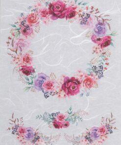 Hârtie de orez - purple roses - decoupage