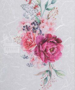 Hârtie de orez - purple roses - decoupage - PR2311.