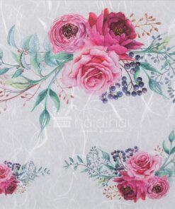 Hârtie de orez - 3 purple roses - decoupage