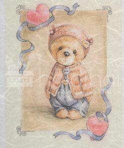 Hârtie de orez - ursulet - love -A5