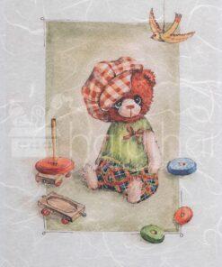 Hârtie de orez - ursulet - nasturel - A5