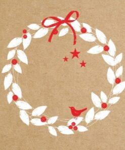 Servetel - Xmas Wreath - 33x33 cm