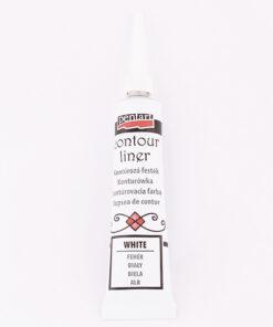 Vopsea contur - alb - 20 ml - Pentart