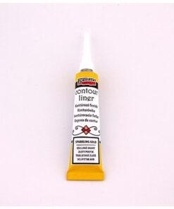 Vopsea contur sclipitor auriu - 20 ml - Pentart