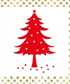Servetel decoupage - Dots & Tree red - 33x33 cm