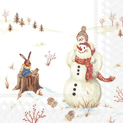 Șervetel - happy winter day - 33x33 cm