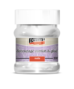 Adeziv&lac - mat - decoupage – 230 ml – Pentart