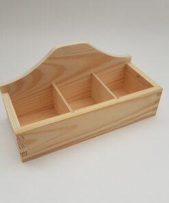 Cutie din lemn cu 3 compartimente - ceai