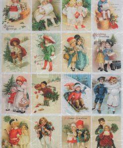 Hârtie de orez - Crăciunul copiilor - A3