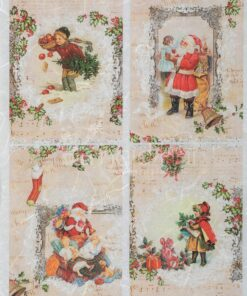 Hârtie de orez decoupage - Christmas images - A4