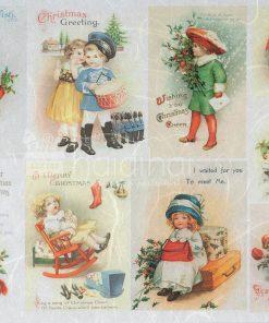 Hârtie de orez decoupage - Crăciun - A4