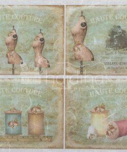 Hârtie de orez - haute couture - A4