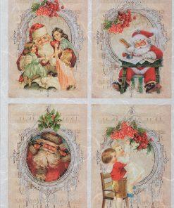 Hârtie de orez - scrisoare Moș Crăciun - A4