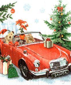 Servetel - Santa is coming - 33x33 cm