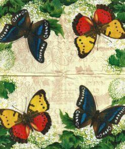 Servetel - butterfly summer - 33x33 cm.