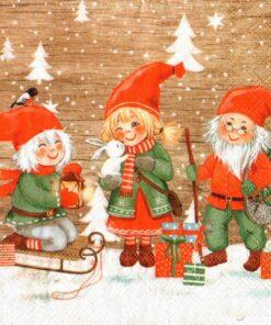 Servetel - spiritul crăciunului - 33x33 cm