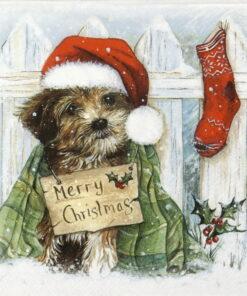 Șervețel – Christmas Puppy – 33×33 cm