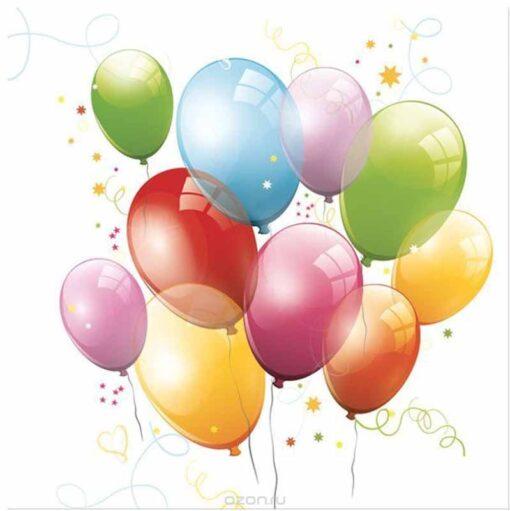 Șervețel - Birthday Balloons - 33x33 cm