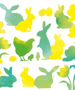 Șervețel - Easter Silhouettes Green - 25x25 cm