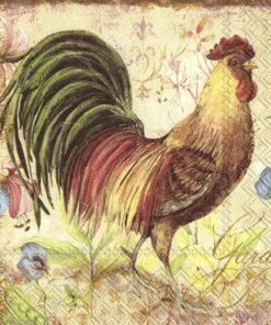 Șervețel - Proud Rooster - 33x33 cm