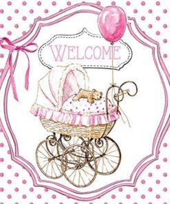 Șervețel - Welcome pink - 25x25 cm