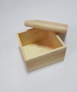 Cutie lemn - capac margini bombate